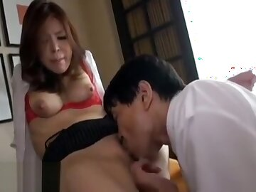 Japanese big knockers Milf fucked by her boss