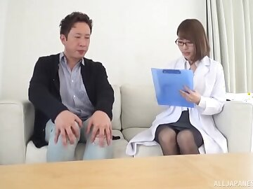 Approachable Japanese nipper doctor helps out a starring role if it should happen badly off